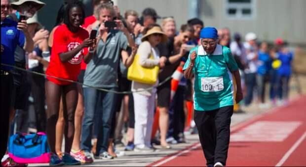 """100-летняя бабушка из Индии взяла """"золото"""" на 100-метровке бабушки, ветераныспорта, длятехкомуза30, спорт"""