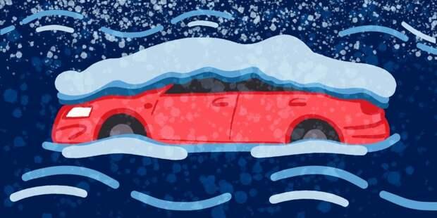 Что делать, если машина застряла в снегу