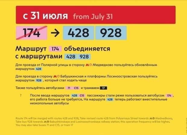В Лосинке исчезнет автобусный маршрут №174
