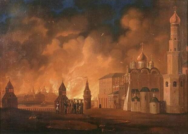 А. Смирнов «Пожар Москвы», Музей-панорама «Бородинская битва»