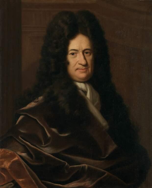 Кристоф Бернхард Франке. Портрет философа Лейбница. 1695