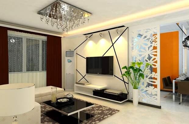 Как отделить кровать в однокомнатной квартире: способы зонирования (32 фото)