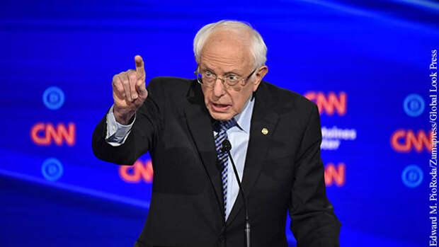 Сандерс призвал к переоценке военной помощи США Израилю