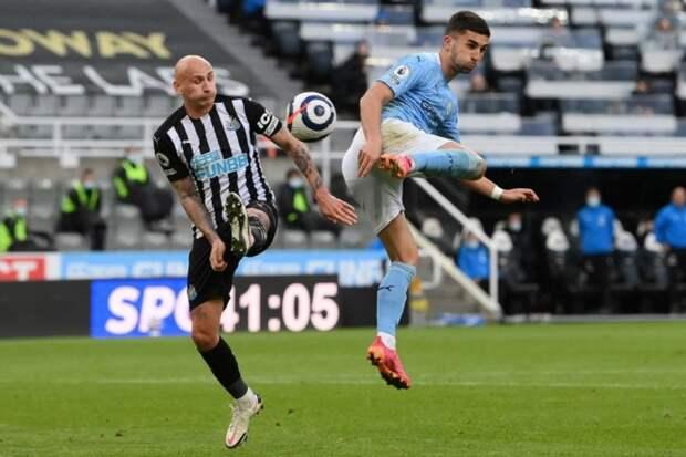 «Манчестер Сити» владел мячом 82,3% времени в игре с «Ньюкаслом»