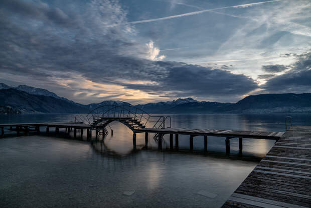 Blue Hour-Attersee by Hubert Bichler on 500px.com