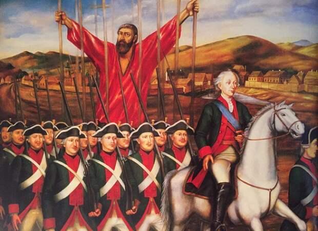 Почему Екатерина II отправила Суворова подавлять бунт Пугачёва