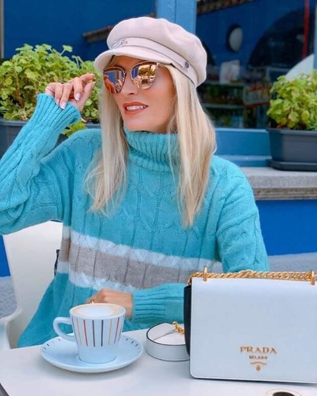 Как с помощью свитера с высоким горлом сделать осенний образ стильным