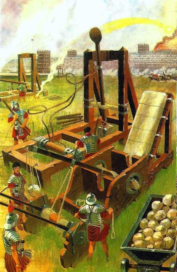Римские катапульты. Картина современного художника.