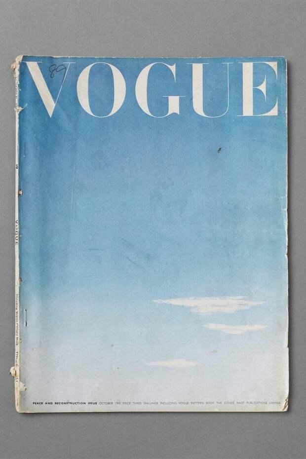 Обложка Vogue, посвященного окончанию Второй мировой войны, октябрь 1945 года