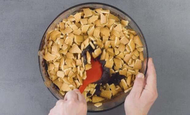 Торт Вулкан без выпечки. Оригинальный десерт с огненной лавой из малинового джема 2