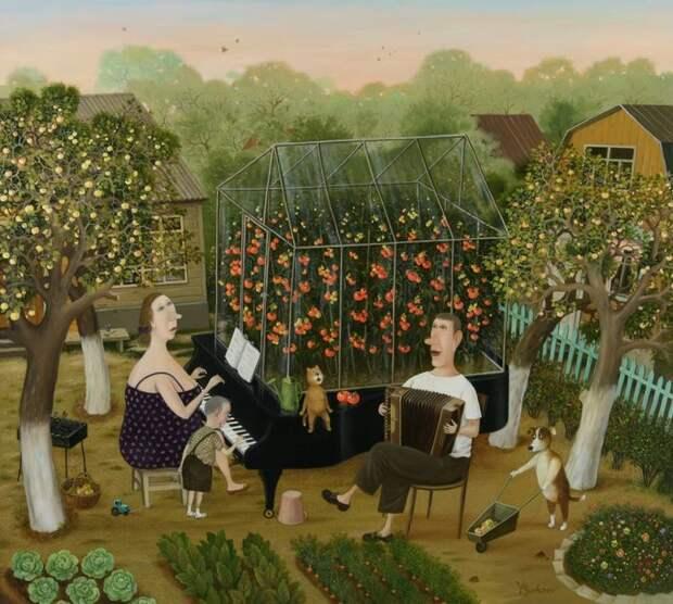 Современный художник рисует сюжеты из жизни простых людей, в которых так легко узнать себя