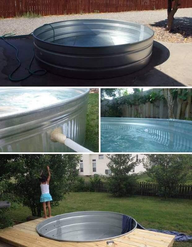 Недорогой бассейн своими руками из подручных материалов - фото ёмкости
