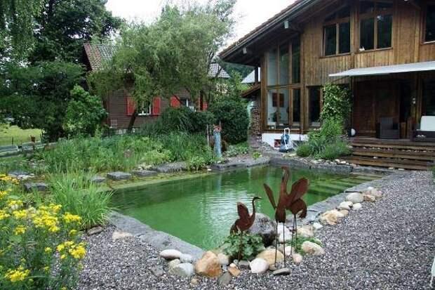 Как сделать простой и неглубокий бассейн своими руками - фото
