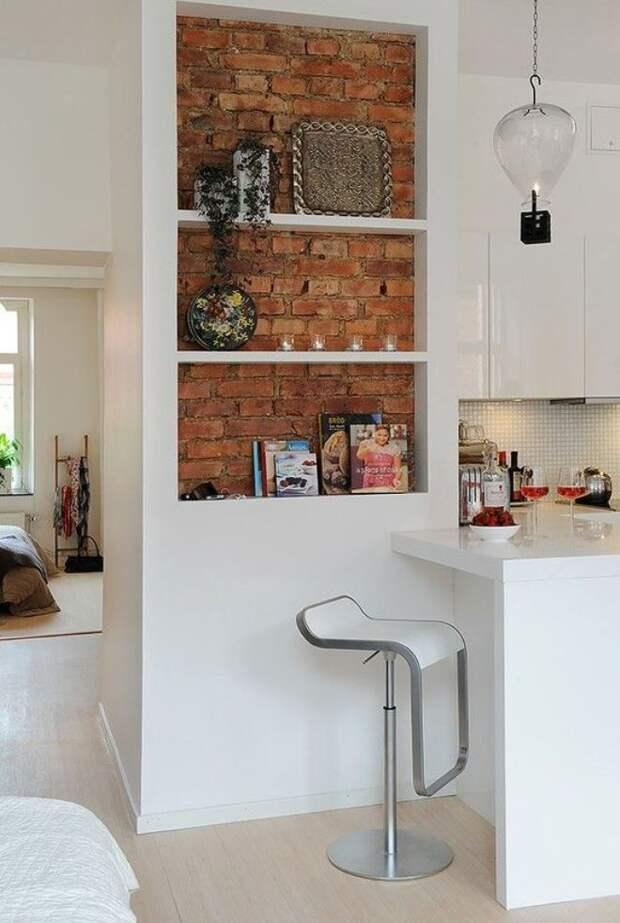 Кирпичная стена в интерьере: материалы, стили, акценты (93 фото)