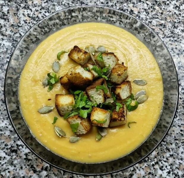 Гороховый крем-суп как в ресторане. Очень простой рецепт