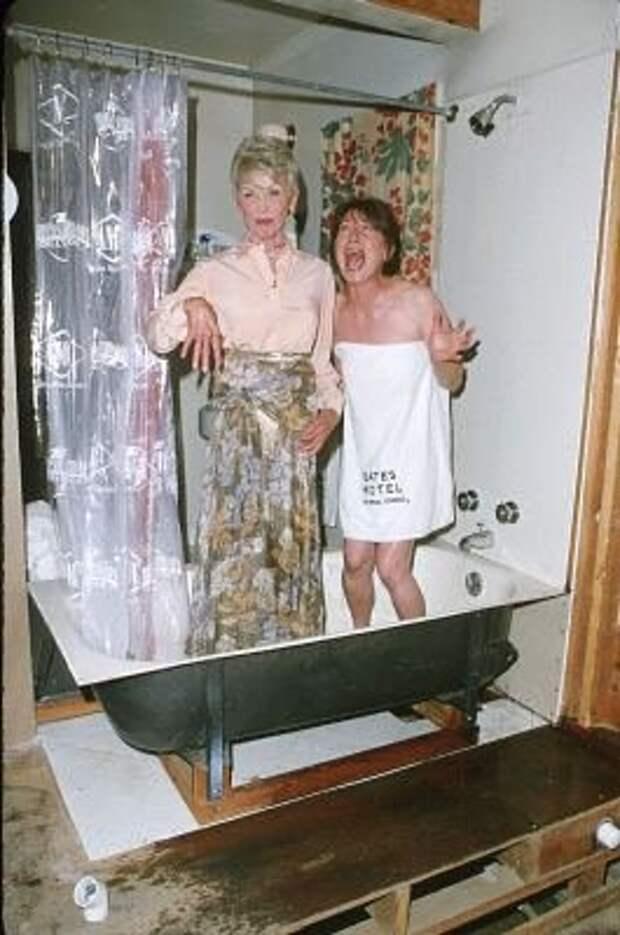 Фотографии со съемок фильма «Психо».