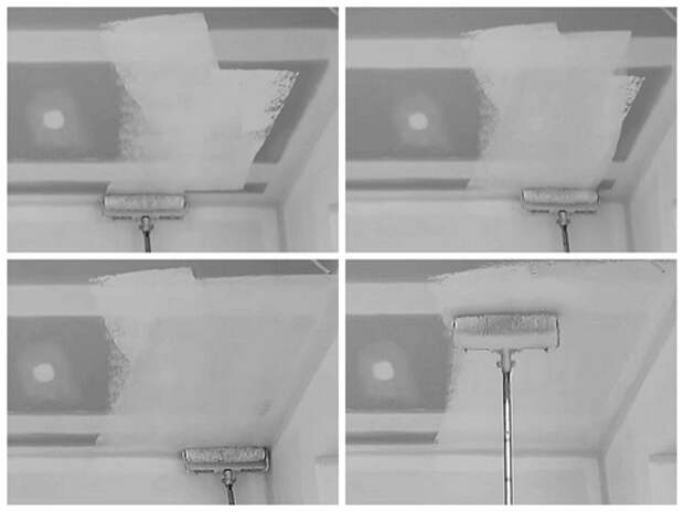 как красить потолок в ванной