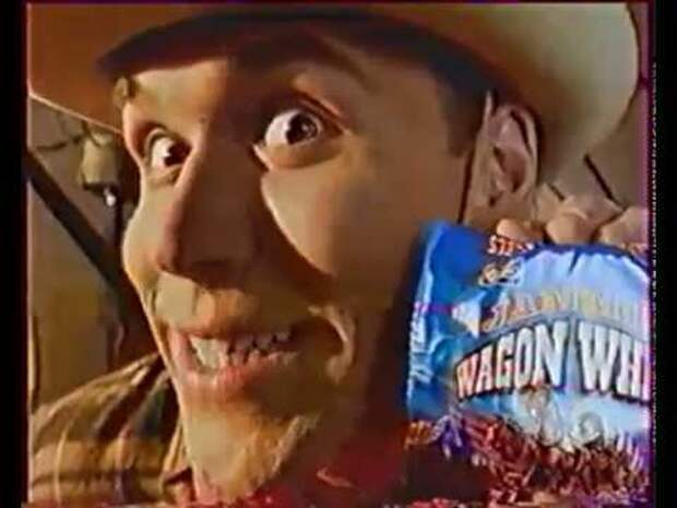 Актер Максим Аверин в рекламе из 90-ых.
