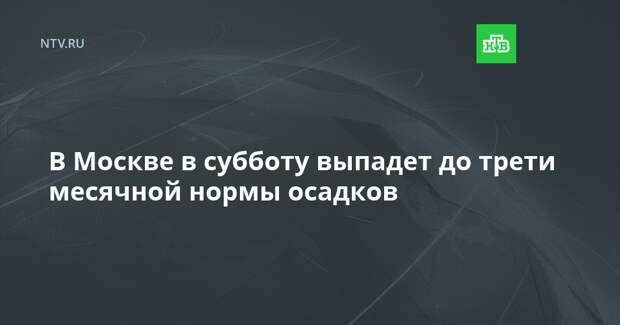 В Москве в субботу выпадет до трети месячной нормы осадков