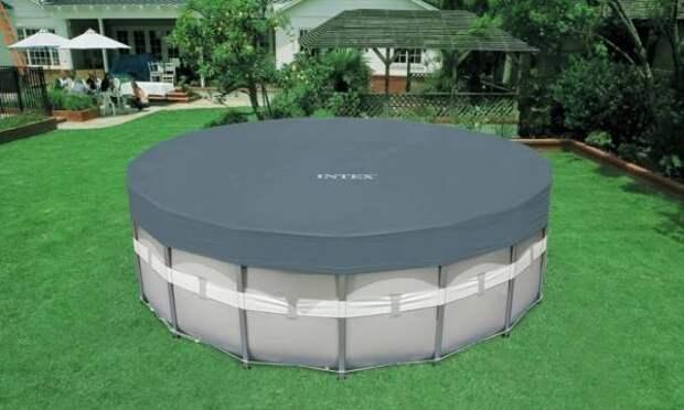Каркасный бассейн в частном доме - фото участка