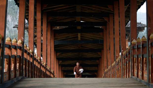 Деревянный мост в Бутане