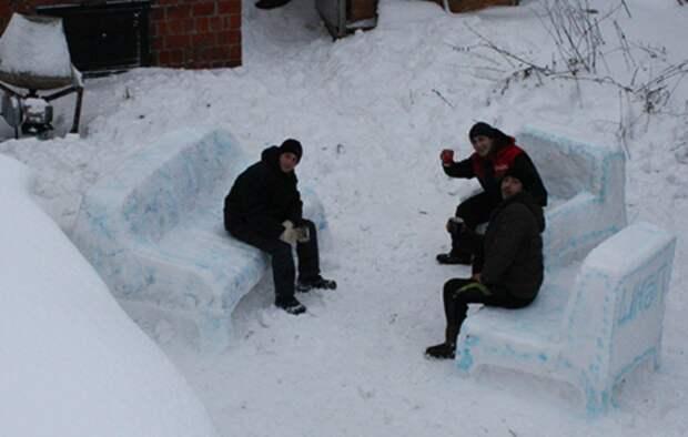 Когда навалило много снега