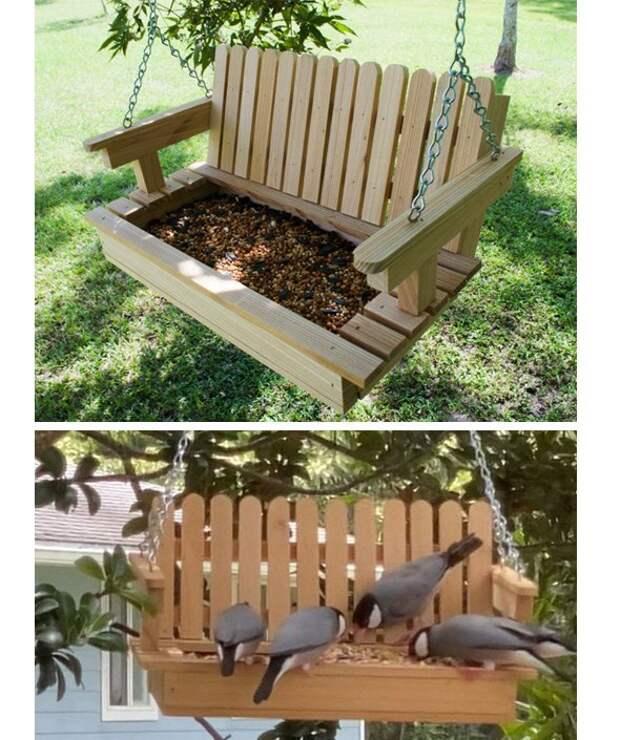 Скамейка для птичек