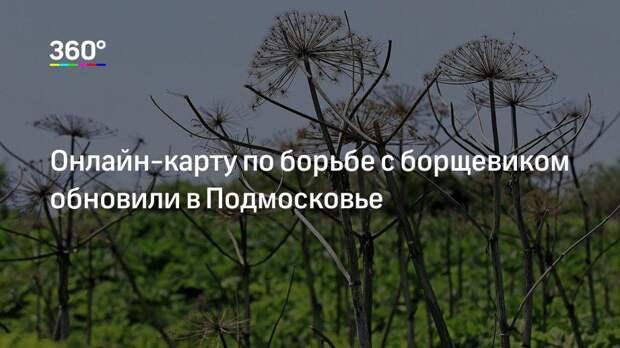 Онлайн-карту по борьбе с борщевиком обновили в Подмосковье
