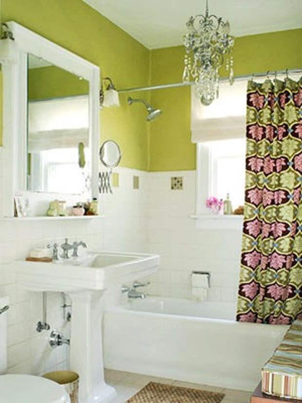 сантехника в маленькой ванной комнате