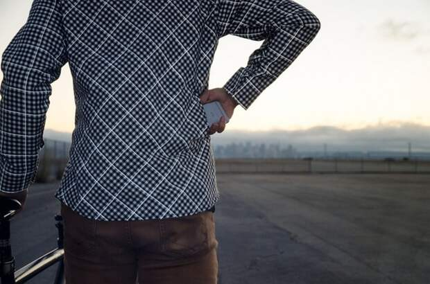 RS01 – крутая рубашка в клетку со светоотражающими элементами