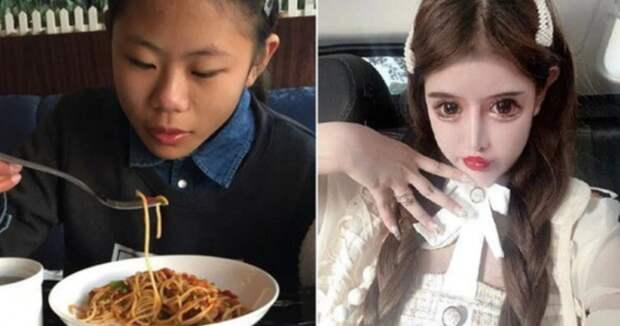 Китайская школьница сделала 100 пластических операций, чтобы достичь своего идеала