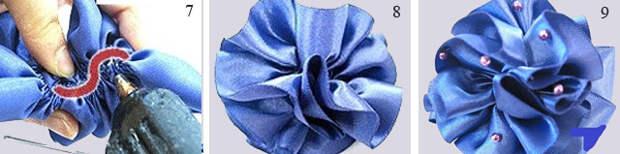Как сделать простую розу из ленточки своими руками