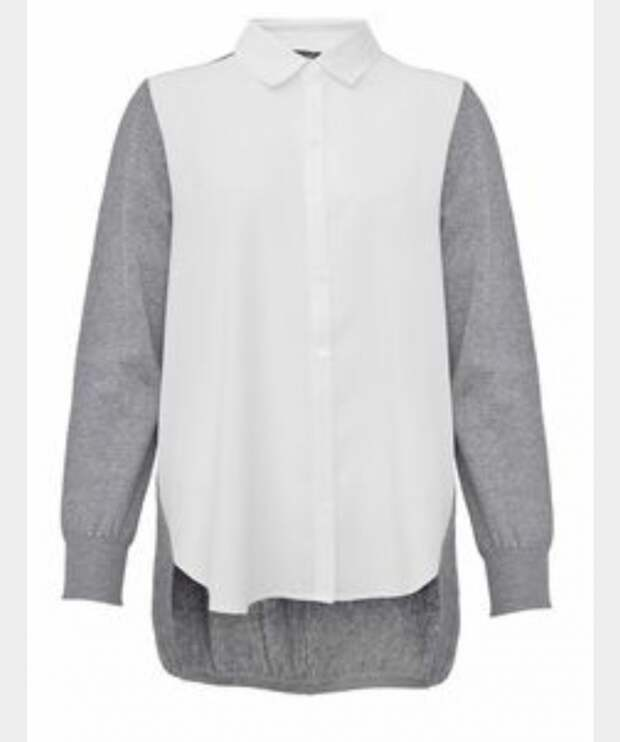 Утепленная блузка рубашка
