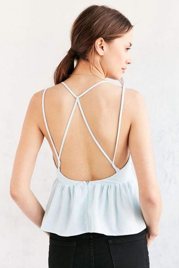 декор спины у топа и летнего платья идеи
