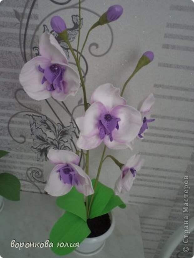 здравствуйте дорогие мастерицы.вот решила с вами поделиться тем , как я делаю цветок орхидеи. фото 33