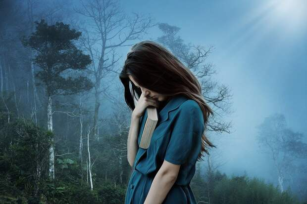 Девочка, Печаль, Одиночество, Печальный, Депрессия