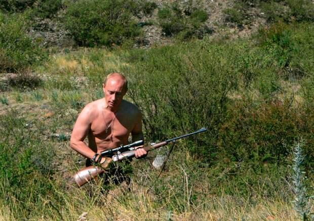 Владимир Путин в Туве, южная Сибирь, 15 августа 2007 года.
