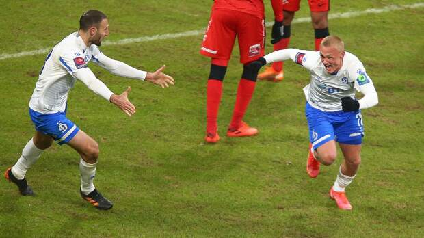 18-летний Тюкавин забил дебютный гол за «Динамо» в матче против «Спартака»