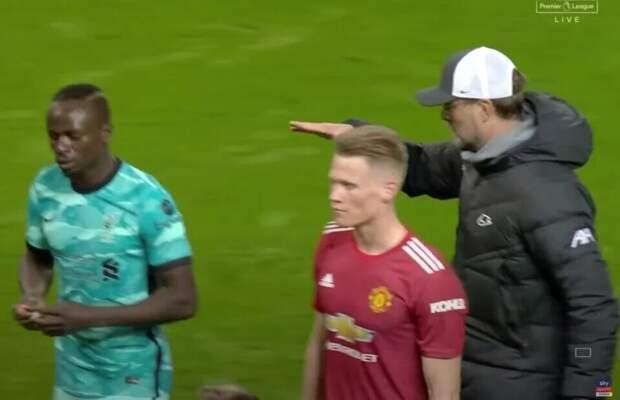 Мане отказался пожать руку Клоппу после матча с «МЮ»