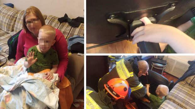 В Москве маленький мальчик едва не остался без пальца, играя с креслом