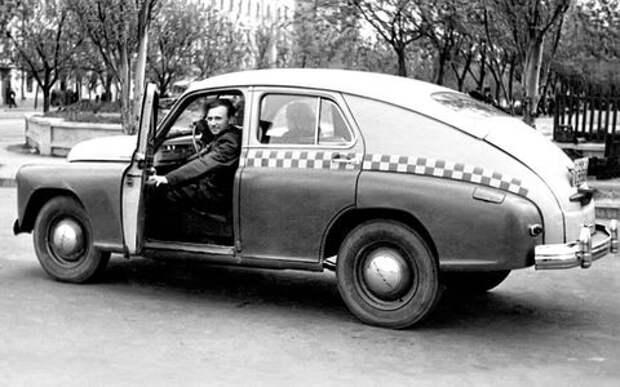 Советское такси: история в картинках