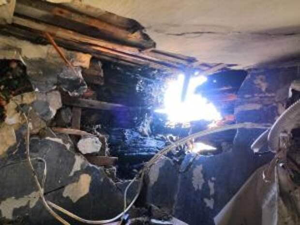 В Невьянском районе горел двухквартирный жилой дом