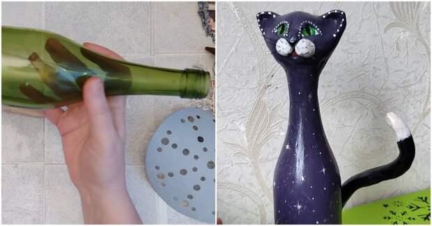 Очаровательный интерьерный декор из простой бутыли от шампанского