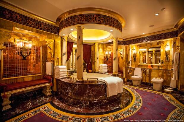Золото для шейхов иолигархов: самый дорогой номер всемизвездочном отеле Burj AlArab