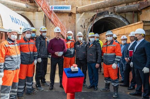 """Началась проходка тоннеля от станции """"Пыхтино"""" до станции """"Рассказовка"""""""