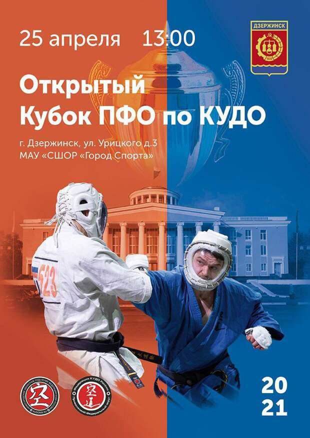 Открытый Кубок ПФО по кудо пройдет в Дзержинске