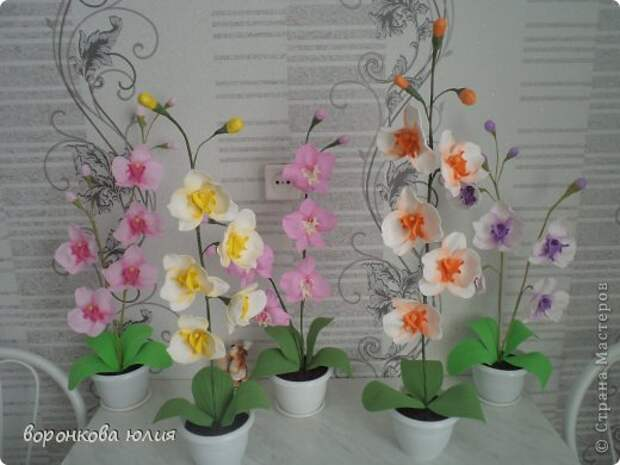 здравствуйте дорогие мастерицы.вот решила с вами поделиться тем , как я делаю цветок орхидеи. фото 34