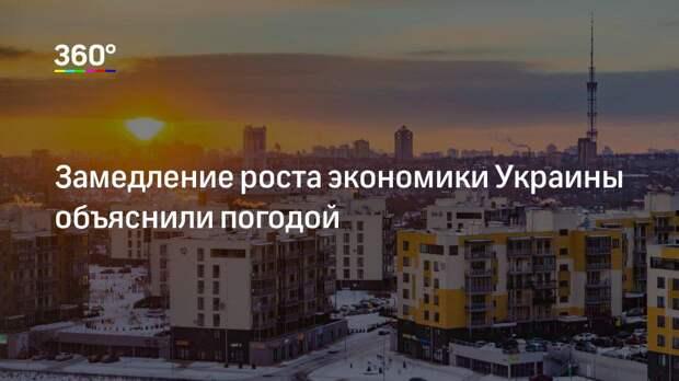 Замедление роста экономики Украины объяснили погодой