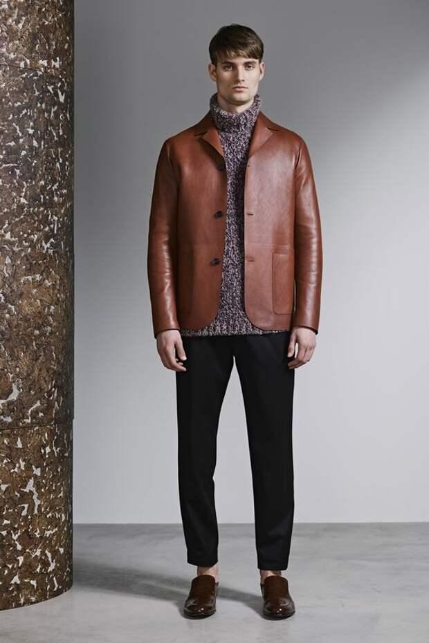Jeffrey Rüdes коричневый кожаный пиджак