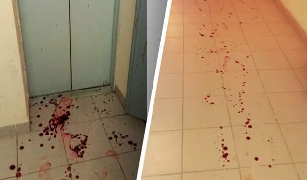 Избитая мужем женщина забрызгала кровью подъезд вЕкатеринбурге